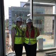 Amy Tenney and Hilary Lappin in their new office space