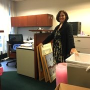 Office of Faculty and Academic Affairs has a lot of boxes to take to Tenley